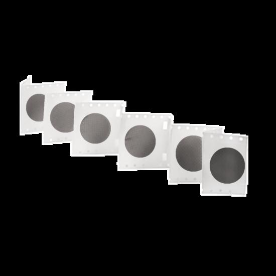 rácsozott steril MCE membrán szűrőlap, pórusméret: 0,22μm, átmérő47mm, fekete