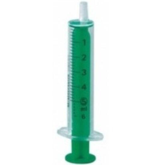 5ml-es kétrészes fecskendő PP (polipropilén) anyagból, kiváló oldószer kompatibilitással